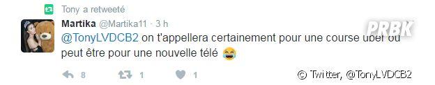 Tony (La Villa des Coeurs Brisés 2) a retweeté le message de Martika