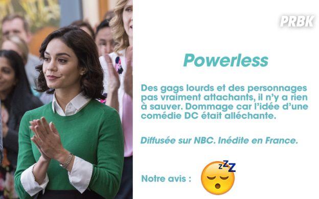 Powerless : notre avis sur la série avec Vanessa Hudgens
