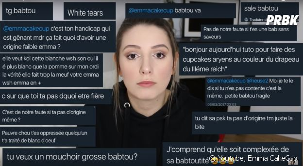 """Emma CakeCup insultée de """"babtou"""" et accusée de racisme ? Sa vidéo coup de gueule"""
