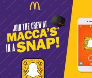 McDonald's recrute ses salariés grâce à Snapchat !