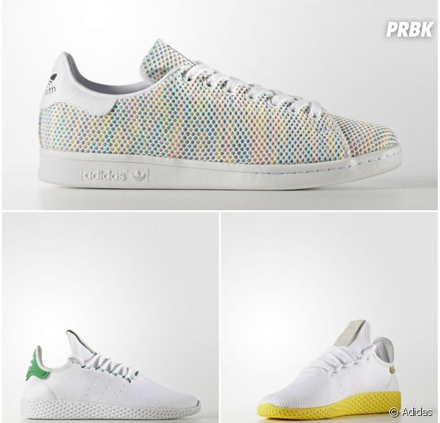 Stan Smith en tissus et multicolores, Tennis HU X Pharrell Williams : les sneakers de