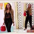 Cristina Cordula fan du look lingerie apparente d'Aurore dans Les reines du shopping