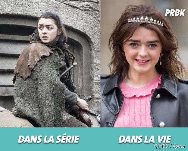 Game of Thrones : Maisie Williams dans la série vs dans la vie