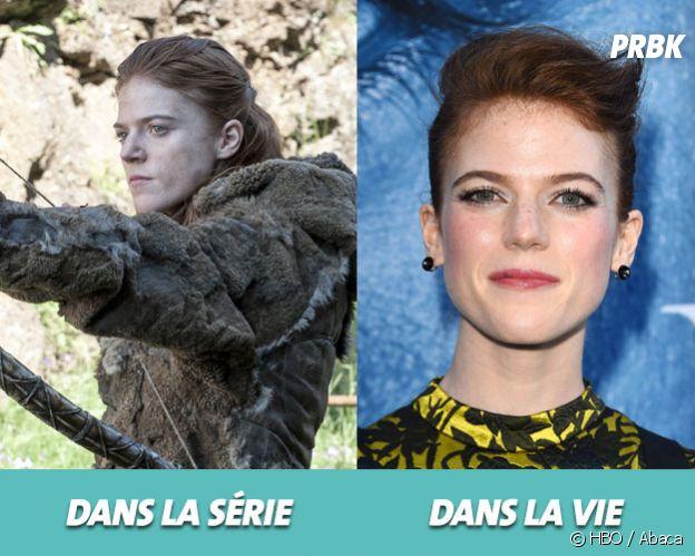 Game of Thrones : Rose Leslie dans la série vs dans la vie