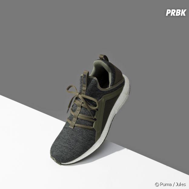 Puma x Jules : la basket Mega NRGY Knit en kaki