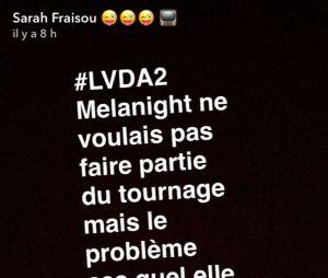 Sarah Fraisou (Les Vacances des Anges 2) règle ses comptes avec Mélanie