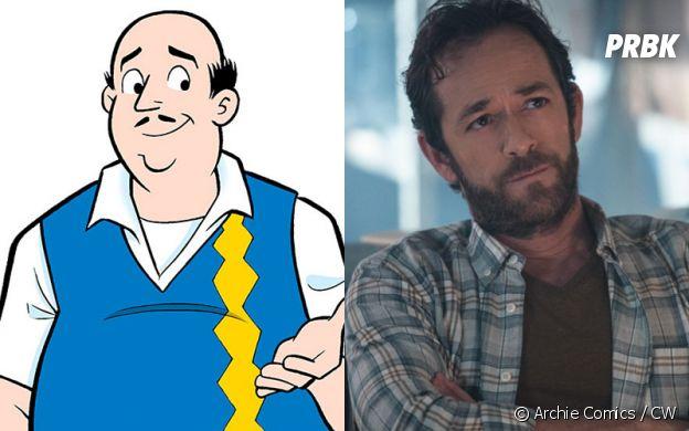 Fred Andrews (Luke Perry) dans les comics et dans Riverdale