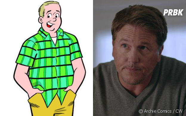 Hal Cooper (Lochlyn Munro) dans les comics et dans Riverdale