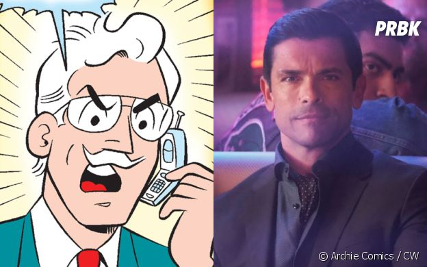 Hiram Lodge (Mark Consuelos) dans les comics et dans Riverdale