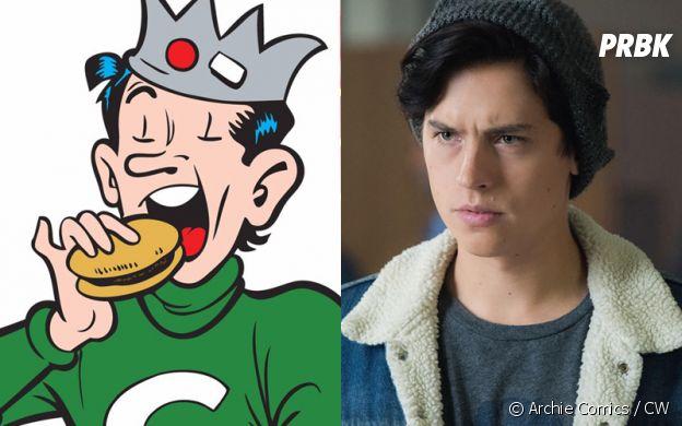 Jughead Jones (Cole Sprouse) dans les comics et dans Riverdale