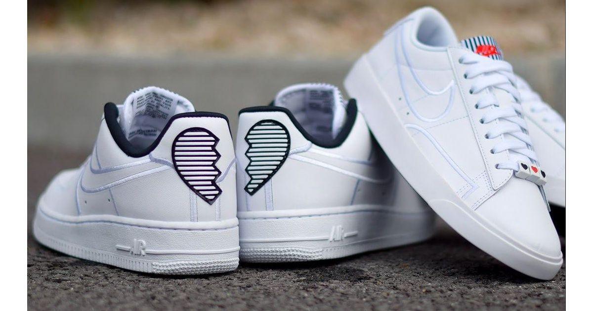 Coeurs La S'occupe Pour Saint Sa Des Brisés Avec Air Nike Valentin NOX80wkZnP
