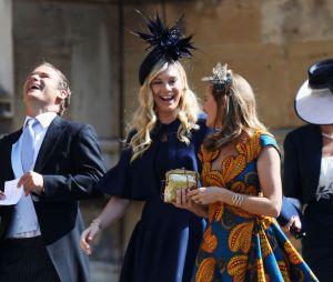 Chelsy Davy (au centre) arrive au mariage du Prince Harry et de Meghan Markle