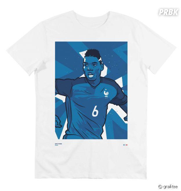 T shirt Paul Pogba en équipe de France