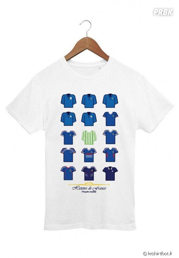 T shirt Histoire maillots équipe de France
