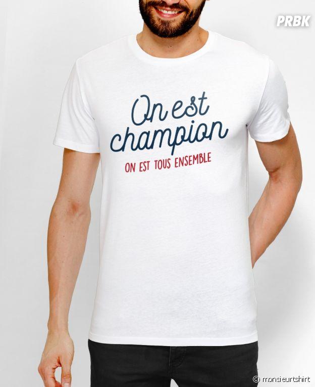 T shirt On est champion on est tous ensemble