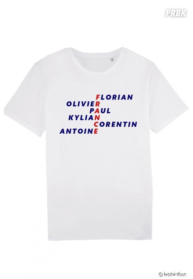 T shirt France Florian Olivier Paul Kylian Corentin Antoine
