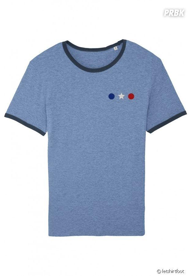 T shirt équipe de France étoile bleu blanc rouge