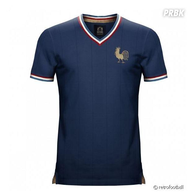 Maillot vintage équipe de France de football
