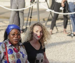 La maman de Paul Pogba à l'Elysée après la victoire des Bleus le 16 juillet 2018