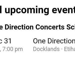 One Direction en concert en 2020 en Australie ?