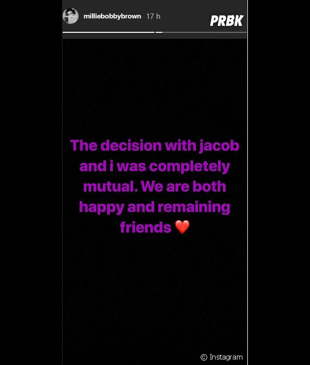 Millie Bobby Brown (Stranger Things) annonce sa rupture avec Jacob Sartorius