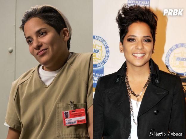 Orange is the New Black : Vicci Martinez (Daddy) dans la série VS dans la vie