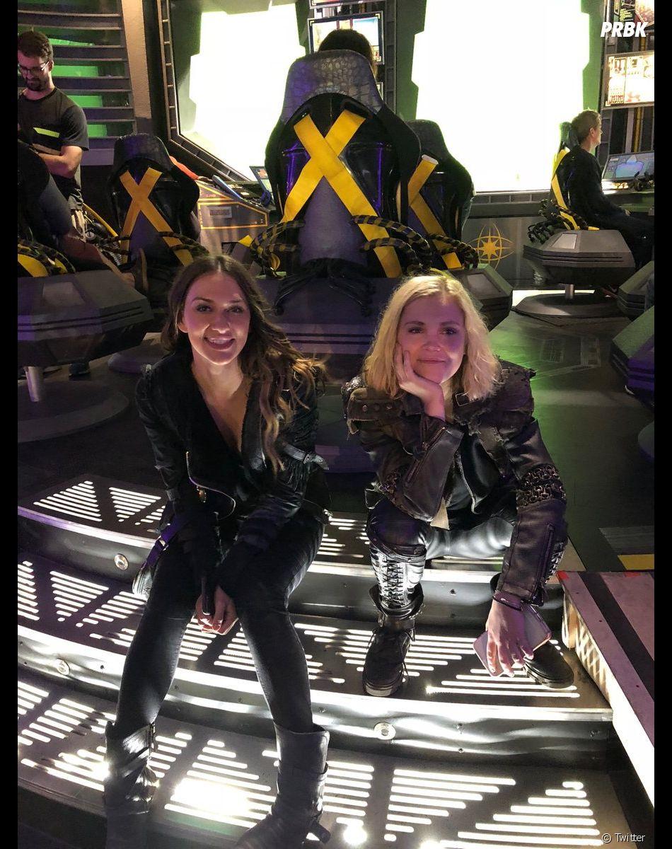 The 100 saison 6 : Eliza Taylor (Clarke) et Tasya Teles (Echo) sur le tournage