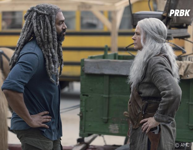 The Walking Dead saison 9 : Ezekiel et Carol sur une photo de l'épisode 6