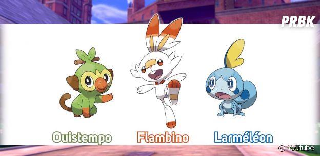 Pokémon Épée et Pokémon Bouclier : les nouveaux Pokémon Ouistempo, Flambino et Larméléon