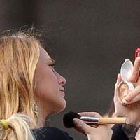 Photos ... Gossip Girl saison 4 ... les deux stars de la série sur le tournage