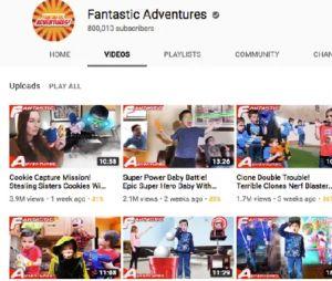 Fantastic Adventures : Youtube ferme la chaîne après l'arrestation de la mère pour maltraitance