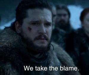"""Game of Thrones : """"on a merdé"""", Jon Snow s'excuse pour la saison 8 de la série"""