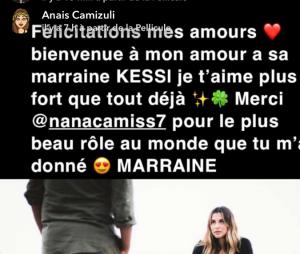 Anaïs Camizuli : sa soeur Manon lui adresse un tendre message