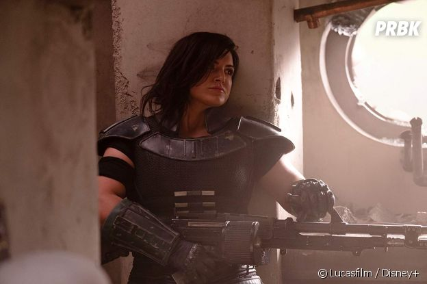 The Mandalorian : Gina Carano sur une photo de la série