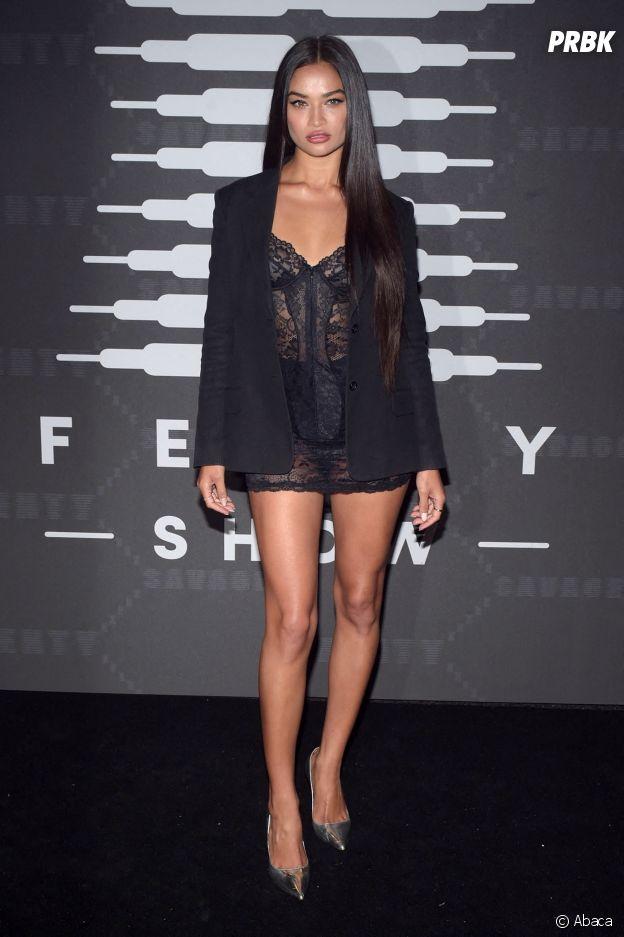 Shanina Shaik au défilé lingerie Savage x Fenty