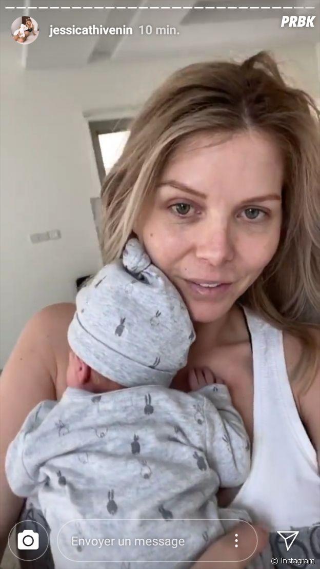 Jessica Thivenin et son fils Maylone le 23 ocotobre 2019