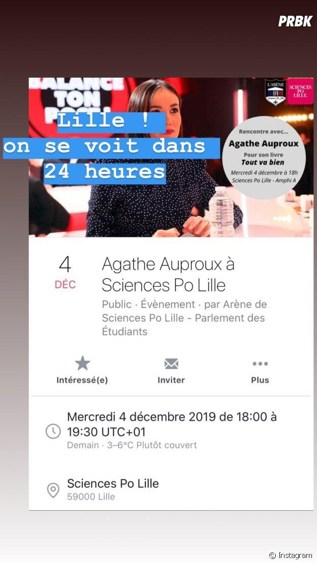 Agathe Auproux quitte TPMP