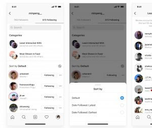 Instagram vous permet maintenant de classer vos abonnements dans des catégories