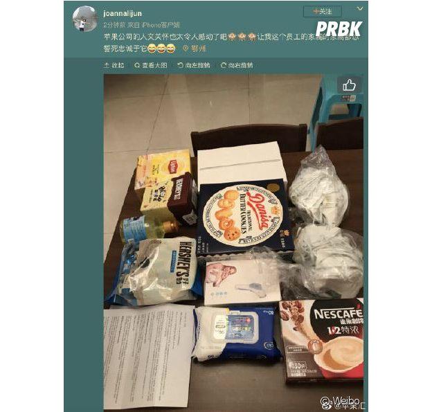 Coronavirus : Apple fait une belle surprise à ses employés chinois confinés chez eux avec ce kit de soins