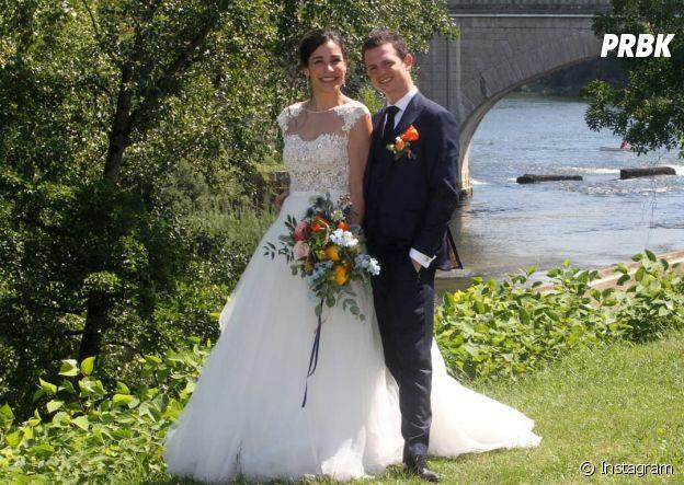 Justine Piluso (Top Chef 2020) et son chéri Camille lors de leur mariage en août 2019