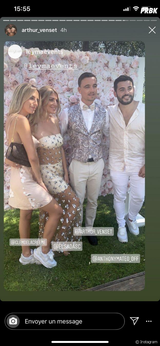 Anthony Matéo (La Villa des Coeurs Brisés 5) et Clémence invités au mariage d'Elsa Dasc