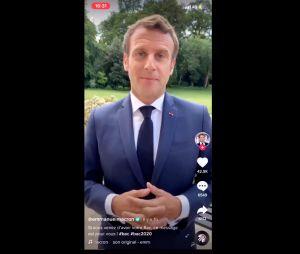 Emmanuel Macron : son TikTok pour féliciter les bacheliers vu 6 millions de fois en 24h !