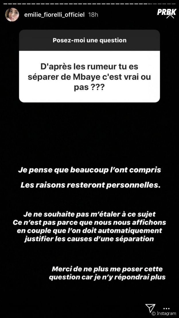 Emilie Fiorelli confirme sa rupture avec M'Baye Niang