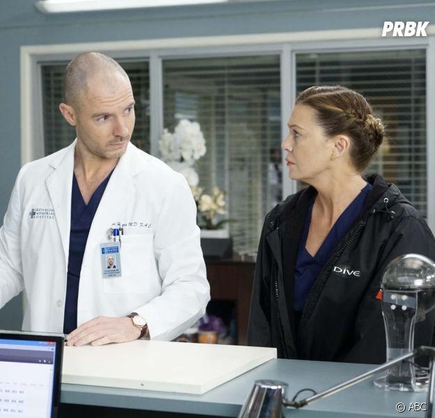 Grey's Anatomy saison 17 : Richard Flood tease le triangle amoureux entre Cormac, Meredith et Delucas
