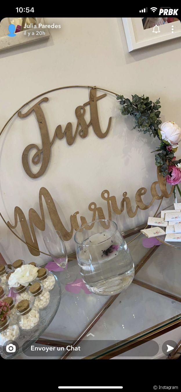 Julia Paredes et Maxime Parisi dévoilent des photos de leur mariage