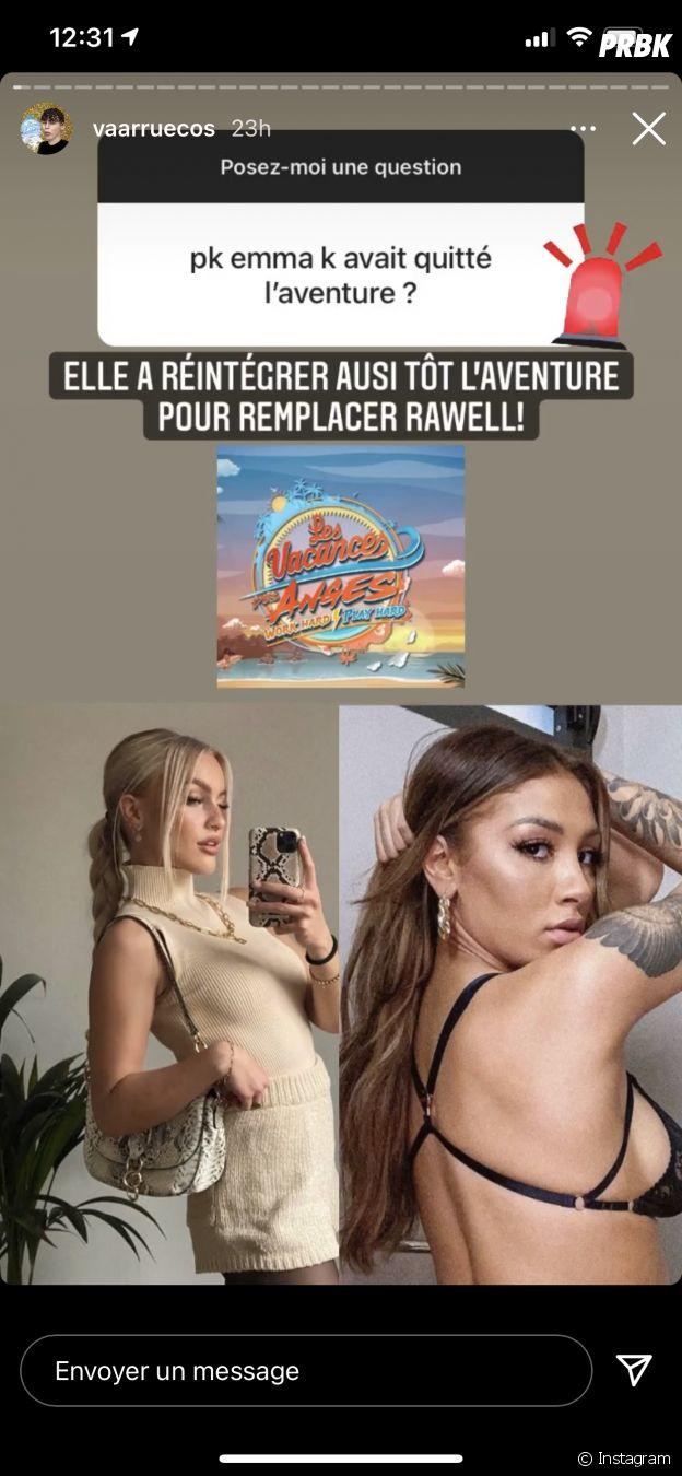 Rawell (Les Vacances des Anges 4) remplacée par Emma après son exclusion ?