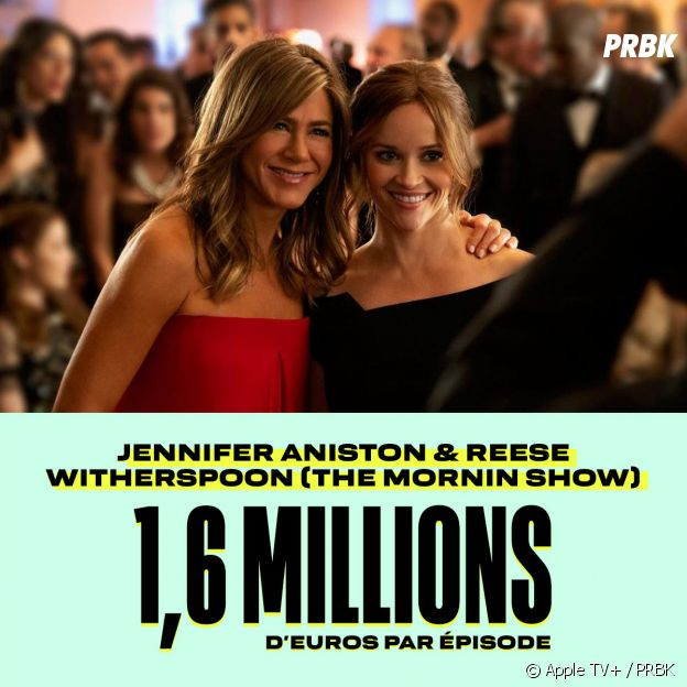 Le salaire de Jennifer Aniston et Reese Witherspoon pour The Morning Show