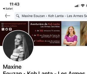 Koh Lanta 2021 : la page Linkedin de Maxine Eouzan