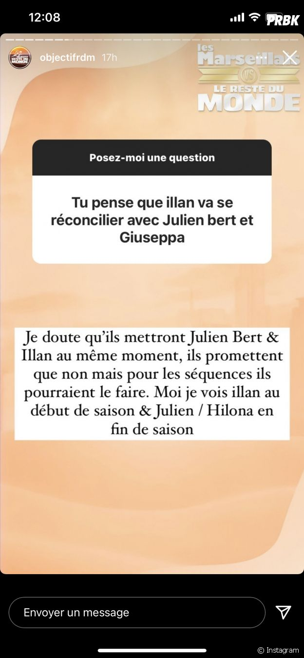 Illan accusé de revenge porn sur Hilona : Julien Bert demande à la prod de choisir pour le cross ?