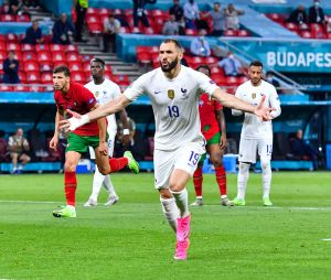 Karim Benzema lors du match Portugal - France le 23 juin 2021